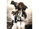 This Beduin shepherd has rescued one of his flock from a ravine in the Wilderness of Tekoa, south-east of Bethlehem. He is dressed and equipped in much the same fashion as shepherds in the days of Jesus.